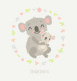 koala mom and baby vector image vector image