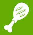 leg of pork icon green vector image vector image