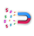 magnet dollar - business vector image