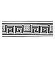 meander is a decorative border vintage engraving vector image vector image