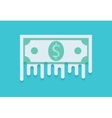 modern flat money background Eps 10 vector image vector image