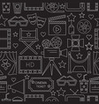 movie seamless pattern background with vector image vector image