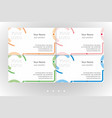 multicolor business card templates set vector image