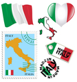 national colours of Italy vector image vector image