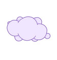 pink unicorn cloud with space for text cute vector image vector image