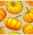 pumpkin fruit pattern on color background vector image