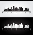 reading usa skyline and landmarks silhouette vector image vector image