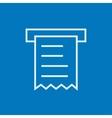 Receipt line icon vector image vector image