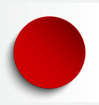 red circle empty banner on white background