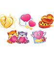 romantic symbols for valentine day vector image