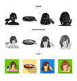 salon care hygiene and other web icon in black vector image vector image