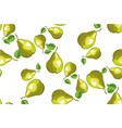 seamless background with green pears vector image vector image