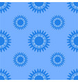seamless texture of geometric shapes in blue tones vector image vector image