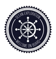 ship wheel steer design vector image vector image
