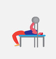 sportsman athlete lying bench barbell strong male vector image