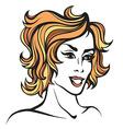 stylized portrait of cartoon pretty fashion girl vector image vector image