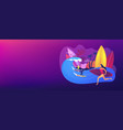 surfing school concept banner header vector image vector image