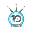 Ten symbol years anniversary logo discount vector image