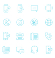 Thin lines icon set - communication vector image vector image