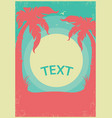 tropical paradise retro poster horizon background vector image vector image