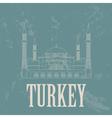 Turkey landmarks Retro styled image vector image