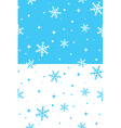 two seamless textures with snowflakes vector image vector image