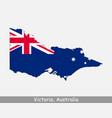 victoria australia map flag