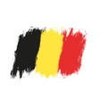 vintage belgium flag vector image vector image