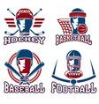 vintage sport labels set vector image vector image