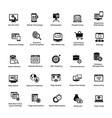 web and graphic designing glyph icons set 2 vector image
