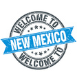 welcome to New Mexico blue round vintage stamp vector image vector image