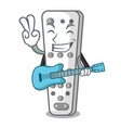 with guitar cartoon remote control from tv device vector image
