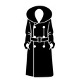 Women coat icon on white background vector image