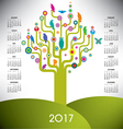 A playful and colorful tree calendar vector image