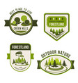 nature park garden square and forest symbol set vector image