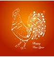 new year card with a rooster in 2017 vector image