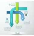 Modern business rounded arrows paper style options vector image