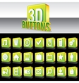 3D Shiny Green Buttons for Website or Apps vector image