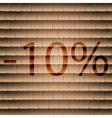 10 percent discount icon symbol Flat modern web