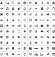 100 corporate icons vector image vector image