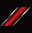 abstract red metallic silver line slash on dark gr vector image vector image