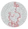 Abstract round maze of high complexity vector image vector image