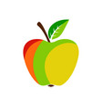 apple on white background vector image vector image