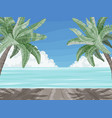 beach and palm trees summer time paradise banner vector image vector image