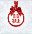 Big sale round banner vector image vector image