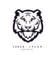 black and white tiger used for logos and other vector image vector image