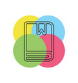 book with bookmark vector image