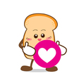 Bread 16 Isolated happy smile Slice of bread vector image vector image