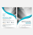 brochure template flyer design background vector image vector image
