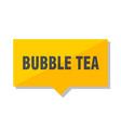 bubble tea price tag vector image vector image